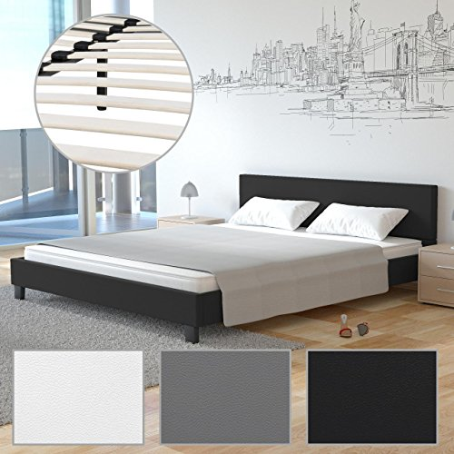 homelux polsterbett doppelbett bettgestell bettrahmen. Black Bedroom Furniture Sets. Home Design Ideas