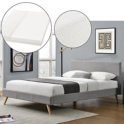 polsterbett toledo 140 x 200 cm hellgrau mit lattenrost kaltschaummatratze m bel24. Black Bedroom Furniture Sets. Home Design Ideas