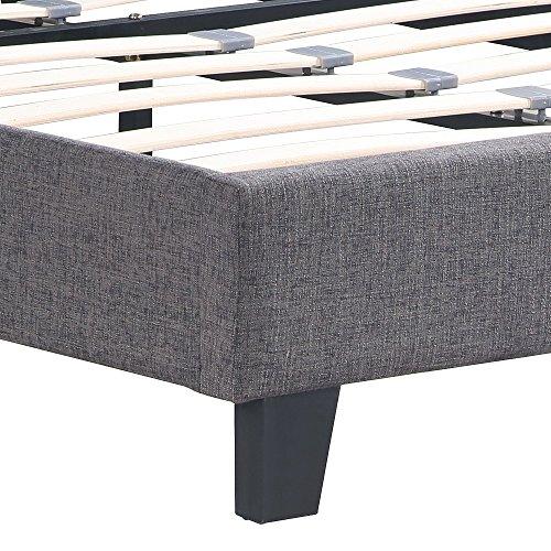ikayaa polsterbett doppelbett bett ohne matratze 2 farbe. Black Bedroom Furniture Sets. Home Design Ideas