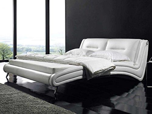 polsterbett 160 200 designer bett sunshine wei kunstleder m bel24 gelschaum topper. Black Bedroom Furniture Sets. Home Design Ideas