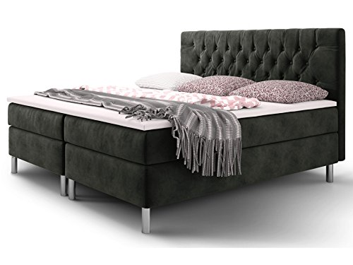 boxspringbett 180 200 160 200 doppelbett hotelbett. Black Bedroom Furniture Sets. Home Design Ideas