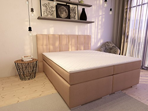 boxspringbett ka line 10x200 cm beige h2 mit stauraum. Black Bedroom Furniture Sets. Home Design Ideas