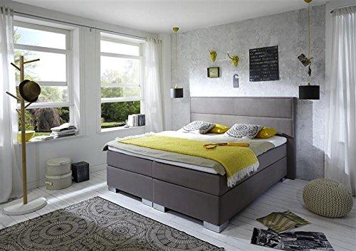 Breckle Boxspringbett 100 x 200 cm Castillo Box Born Formschaummatratze My Balance 20 Topper Gel Premium Comfort