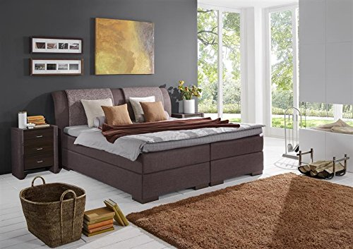 Breckle Boxspringbett 100 x 200 cm Lund Box mit Stauraum 500 Hollanda 1000 Gel Topper Gel Comfort
