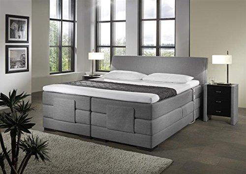 Breckle Boxspringbett 100 x 200 cm Napoli Box Stauraum 1000 TFK Big Topper Gel Premium Comfort