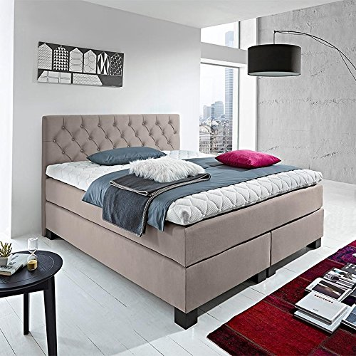 luxus boxspringbett rockstar capiton 9cm topper welcon 180x200 64 farben erh ltlich h1 h2 h3 h4. Black Bedroom Furniture Sets. Home Design Ideas