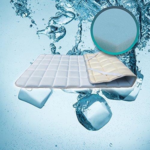 SH3Topper aus Visco Memory Foam Concealer für Matratze oder sovramaterasso Einzelbett 100 x 200 cm Polargel