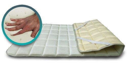 SH3Topper aus Visco Memory Foam Concealer für Matratze oder sovramaterasso francese 130x200 Lattice