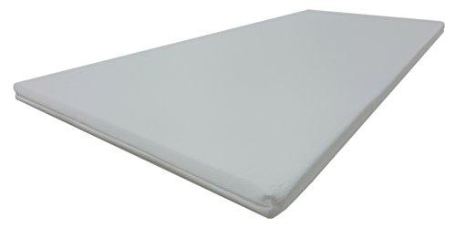 Dibapur® VISCO TOPPER 3D Air Fresh Bezug Viscoelastische Memory Matratzenauflage(3D AIR 90x190) x ca. 5 cm Kern mit Bezug ca. 5,2 cm - Made in Germany