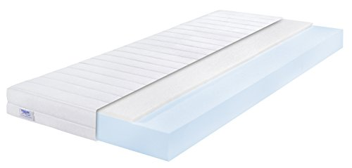 traumnacht easy comfort rollmatratze h rtegrad 2 h2 100 x 200 cm wei gelschaum topper. Black Bedroom Furniture Sets. Home Design Ideas
