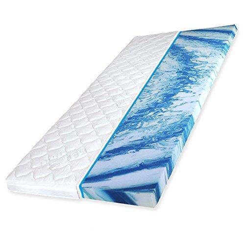 Gelschaum Topper HydroBlu Gel Komfort Matratzenauflage RG40, Breite x Länge:180cm x 200cm