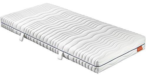 sleepling 190152 Matratze Comfort 120 Kaltschaum Härtegrad 3 90 x 200 cm, weiß