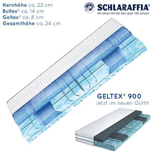 Schlaraffia Geltex 900 Bultex Matratze 90x200 cm H3