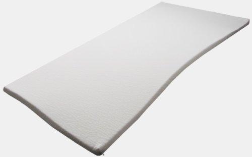 Sondermaße 5cm Viscoelastische Matratzenauflage mit Bezug Milano Härte 2 Visco Auflage Topper Memory Matratze Gelschaum (150x200cm)