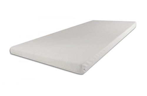 SW Bedding Viscoelastische Matratzenauflage 200 x 180 x 7cm H3 mit Bezug medicare Boxspringbett Auflage - 120 Tage Probeschlafen