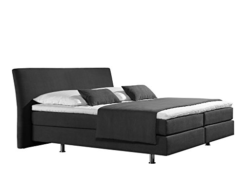 maintal boxspringbett club 180 x 200 cm strukturstoff 7 zonen kaltschaum matratze h3. Black Bedroom Furniture Sets. Home Design Ideas
