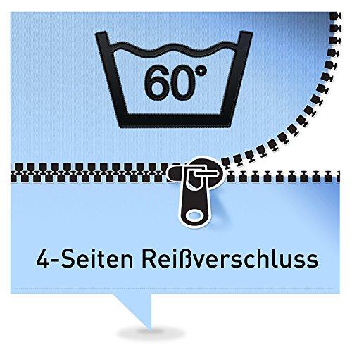 Ravensberger Kaltschaummatratze Softwelle, (90 x 190 cm), 7-Zonen Matratze (H1, Raumgewicht RG 40), Medicott-Bezug waschbar, LGA und TÜV geprüft
