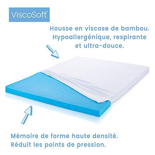 ViscoSoft - Matratzenauflage, Memory-Schaum mit gel micro-ingekapseld 180 x 200 cm