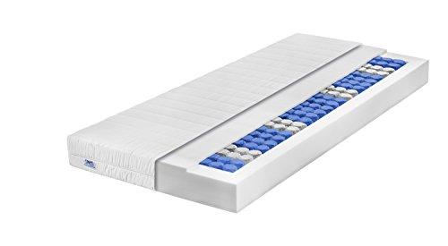 Traumnacht T9 Deluxe 9-Zonen Tonnentaschenfederkern-Matratze Härtegrad 3 (H3), 80 x 200 cm, weiß
