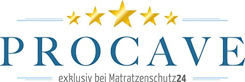 PROCAVE Viskoschaum Topper 70x200 cm mit Noppen-Doppeltuch | MEMORY® Visco Schaum | Matratzentopper | Viscoschaumtopper | Viscoelastische Matratzenauflage | Boxspringbetten