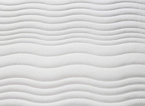 Traumnacht 4-Star Orthopädische-7-Zonen Gelschaummatratze Härtegrad 4 (H4), 140 x 200 cm, weiß