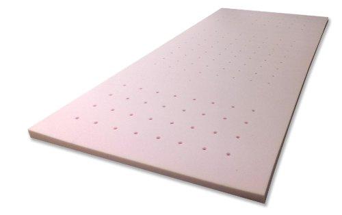 Gelschaum-Topper Breckle Robby 7-Zonen-Bohrung Gesamthöhe 7 cm, mit waschbarem Bezug, RG 60 - Grösse 100x200