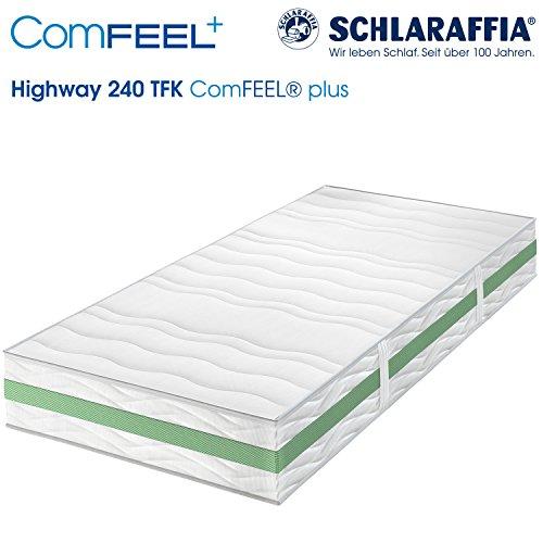 Schlaraffia Highway 240 TFK ComFEEL 7-Zonen Taschenfederkern-Matratze H3 (100 x 200cm)