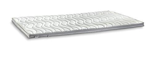 GELAX® | Gel-Schaum Topper Matratzenauflage | 7cm Gesamthöhe | waschbarer Bezug mit 3D-Mesh-Klimaband und Stegkanten | Raumgewicht RG 50 | 140 x 200 cm