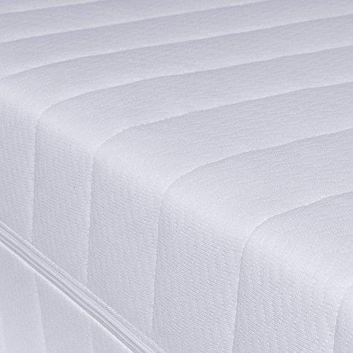 Kaltschaummatratze, Härtegrad H2 & H3, Matratze mit 7 Zonen, Größe wählbar, Rollmatratze, Made in Germany (90 x 200, H2&H3)