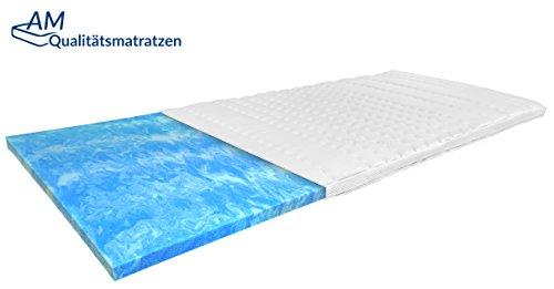 Premium Gelschaum-Topper 180x200 cm mit RG 50 - Hochwertiger Tencel-Bezug - Antirutschfunktion - Umlaufendes Klimaband - Qualität made in Germany - Gel-Topper 180 x 200