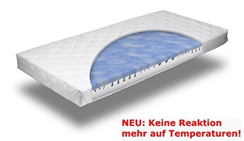 7 Zonen Gel / Gelschaum Matratze Blue Sensation Höhe 16 cm, 160 x 200 cm H2 oder H3 temperaturneutrale Matratze, reagiert nicht auf Temperatur inkl. abnehmbaren waschbaren Bezug