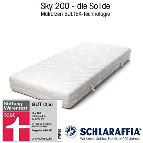 Schlaraffia Sky 200 BULTEX-Matratze (90 x 200 cm, H3) - GUT (2,5) im Stiftung Warentest 9/2017 - für jede Schlafposition geeignet