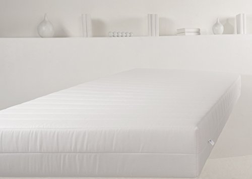 Traumnacht T9 9-Zonen Tonnentaschenfederkern-Matratze Härtegrad 3 (H3), 90 x 190 cm, weiß