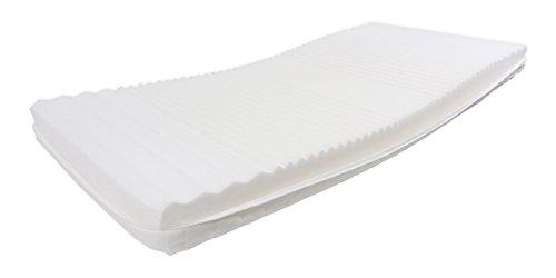 Dibapur® : Q ECO 7 Zonen Orthopädische Kaltschaummatratze (Q ECO 80x200) x ca.14,0 cm Kern mit gesteppten Doppeltuchbezug ca. 14,2 cm Härtegrad: H2 - Dibapur® : Q steht für Qualität. Made in Germany