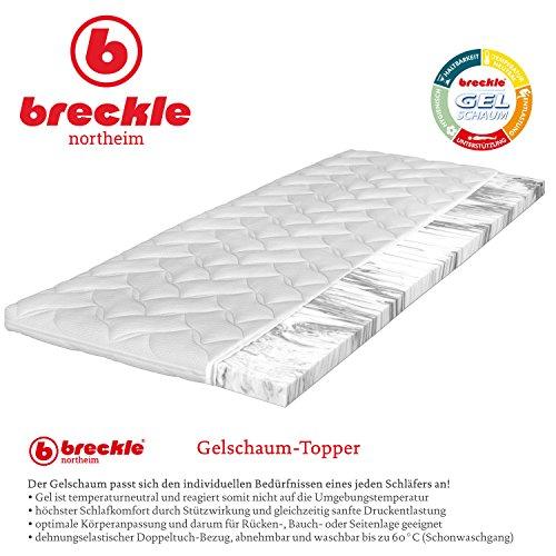 Breckle Gelschaum-Topper, Größe:200x210 cm (Sondergröße)