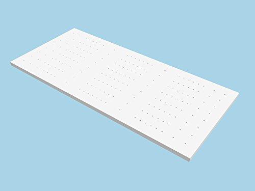 Ebitop Topper-Matratze-Matratzenauflage, Ebi - A1- 90.7 Bezug-waschbar Viskose Matratzenauflage, 200x90x7 cm weiß