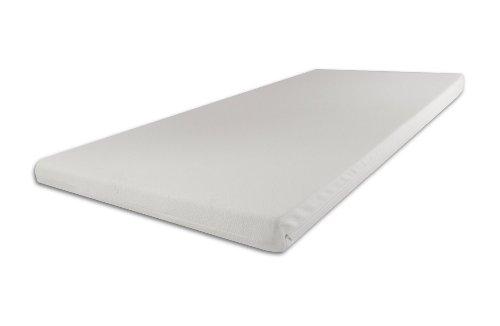 Viscoelastische Matratzenauflage 200 x 90 x 9cm H2 mittel mit Bezug Ideal