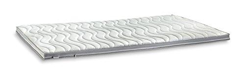 AQUASOFT Gelschaum-Topper Matratzenauflage | 10 cm Gesamthöhe | waschbarer Bezug mit 3D-Mesh-Klimaband und Stegkanten | hydrophile Eigenschaften | besonders softer Touch | 180 x 200 cm