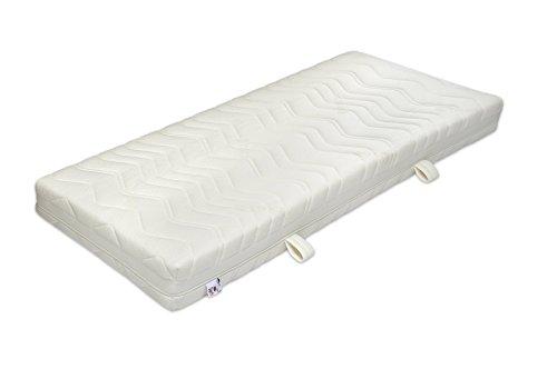 Badenia Bettcomfort 7-Zonen Tonnentaschenfderkernmatratze Jubiläumsmodell 70 Jahre, Härtegrad 2, Polyester, 90 x 200 cm, weiß