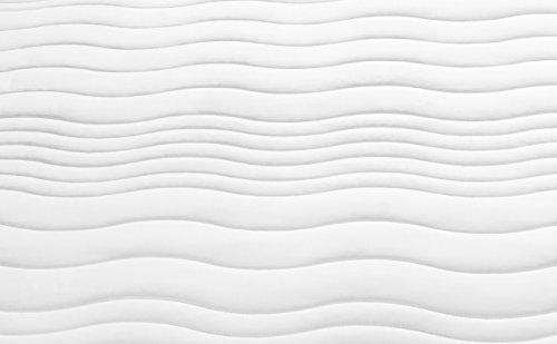 Traumnacht XXL de Luxe 7-Zonen Kaltschaummatratze mit Visco-Gelschaumauflage Härtegrad 2,5 (H2,5), 140 x 200 cm, weiß