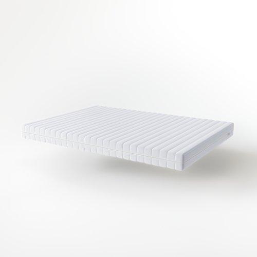 Hilding Sweden Essentials Schaumstoffmatratze in Weiß / Mittelfeste Matratze mit orthopädischem 7-Zonen-Schnitt für alle Schlaftypen (H2-H3) / 200 x 90 x 16 cm