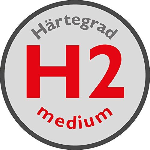 Badenia Bettcomfort Kaltschaummatratze mit Noppenauflage Trendline BT 310 H2, 90 x 200 cm, weiß