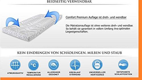 High Tech - 7 Zonen - Gelschaum - Topper - 9 cm -Raumgewicht 65 Kg/m³ / Made in Germany ✔ (Größe 140 X 200 cm)