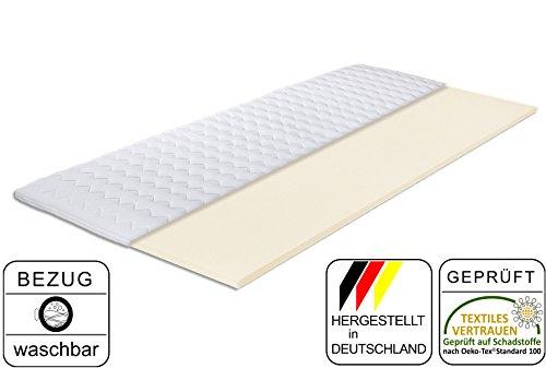 Matratzen-Aktuell® Komfortschaum-Topper Gina-VS | MADE IN GERMANY | Höhe 5cm | Hochwertiger Bezug - abnehmbar & waschbar | Matratzenauflage für Boxspring-Betten | Topper in verschiedenen Größen (Komfortschaum 5cm, 80 x 190 cm)