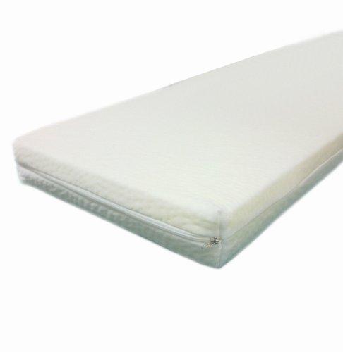 Dibapur - 80cm x 190cm x 5cm - Viscoelastische Matratzenauflage, Visco auflage, mit Bezug