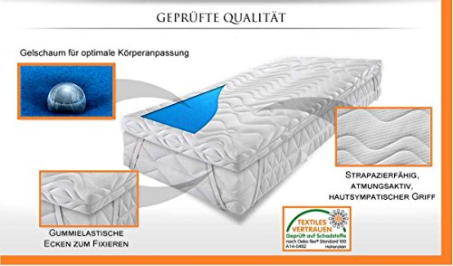 "Gelschaum Topper 7 cm ""SOFT"" > High Tech < - Raumgewicht RG 65 KG/³, (Größe: 200 x 200 cm) ➽ Aktuelles Angebot ➽ ❤️❤️❤️"