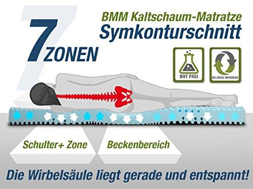 DIREKT VOM HERSTELLER - MADE IN GERMANY 7-Zonen AquaHR Kaltschaummatratze ORTHOLEX RG40 - H3, 140x200cm, Höhe 19cm   extra Schulterzone   Bezug SaniNature waschbar   hochwertig   Matratze auch für verstellbare Lattenroste geeignet