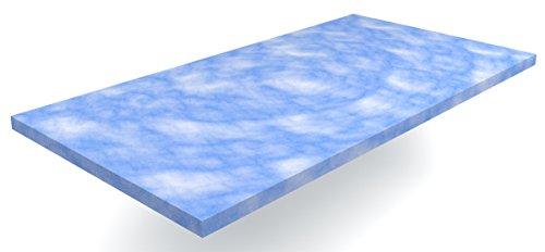 Gel / Gelschaum Matratzen Topper Blue Sensation Höhe 6 cm, 140 x 200 cm temperaturneutral Auflage für Matratze, Matratzenauflage reagiert nicht auf Temperatur soft / weich inkl. Bezug