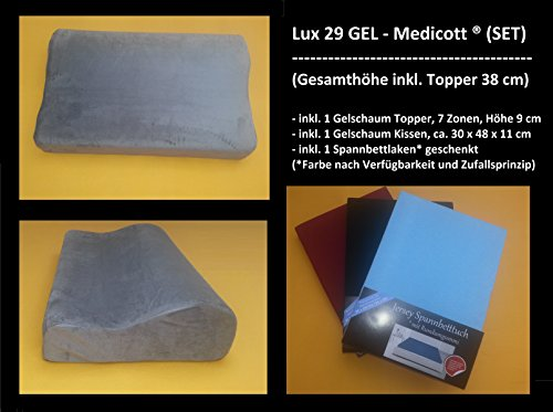 Boxspring -GELSCHAUM - MATRATZE inkl. Topper Höhe 38 cm, Größe wählbar: (180 x 200 cm)