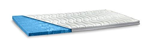 AQUASOFT Gelschaum-Topper Matratzenauflage | 10 cm Gesamthöhe | waschbarer Bezug mit 3D-Mesh-Klimaband und Stegkanten | hydrophile Eigenschaften | besonders softer Touch | 140 x 200 cm